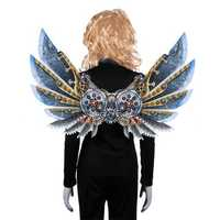 Mardi Gras Steampunk Gear Wings Cosplay Carnival Party Unisex Costume Wing Props