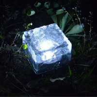 Garden Square Solar Power Brick Lights LED Lamp Waterproof Outdoor Yard Lawn Path Light