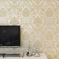 10M Wallpaper Roll 4 Colors Embossed Damask Design Flocked Non-woven Home Wall Decoration