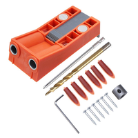 Pocket Hole Jig System With Magnet and Step Drill Bit and Accessories Wood Drill Positioning Slider Plastic 9.5mm Drill Guide For Carpentry Woodworking Tool