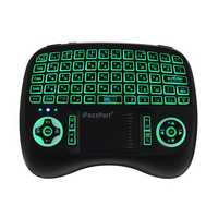 iPazzPort KP-810-21T-RGB Russian Three Color Backlit Mini Keyboard Touchpad Airmouse