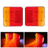12V 16LED Boat Truck Trailer Stop Rear Tail Brake Light Indicator Lamp