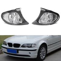 Pair Corner Lights Side Light For BMW E46 3-Series 4DR 02-05 325i 330i Clear Lens