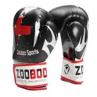 Men 1 Pair PU Leather Boxing Gloves Mitts Muay Thai Punch Bag Sparring MMA Training
