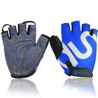 Unisex Microfiber Half Finger Gloves Cycling Bicycle Gym Outdooors Sport Anti Skid Mittens
