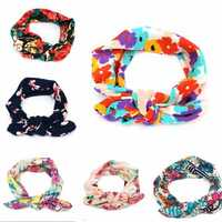 Kids Baby Girl Infant Floral Flower Bow Hair Band Turban Knot Rabbit Headbrand Headwear Accessories