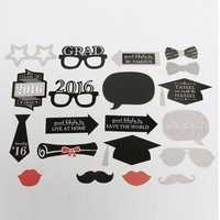 24Pcs Photo Mustache Stick Booth Prop Commencement Party Mask Props Wedding Party Decoration