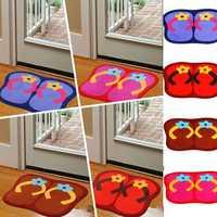 41x58cm Anti Slip Flip Flops Shape Lint Ground Mat Absorbent Bathroom Floor Door Carpet