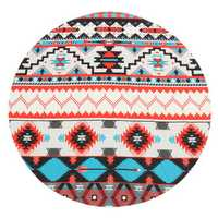 145CM Geometry Pattern Round Yoga Mat Beach Printing Throw Towel Shawl Wall Hanging Tapestry
