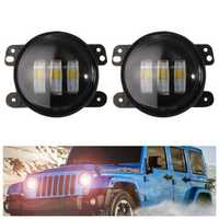2pcs 4inch 30W 6500K 144LM LED Fog Lights for Jeep Wrangler JK Dodge Magnum Chrysler Cruiser