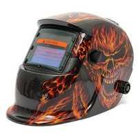 Skull Fire Solar Auto Darkening Welding Grinding Helmet Welder ARC TIG MIG Mask
