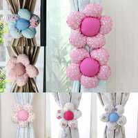 2pcs Flower Shape Living Room Window Curtain Tie Back Home Bedroom Decor