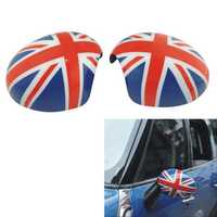 2PCS ABS Union Jack Door Mirror Cover for Mini Cooper Countryman Manual R55 to R61
