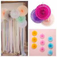 40cm 16'' 1pc Paper Wheel Fan Flower Pine wheel Hollow Out Paper Wedding Party Decoration