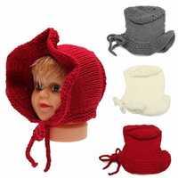 Toddler Kids Girl Boy Baby Infant Winter Warm Bonnet Crochet Knit Hat Beanie Cap