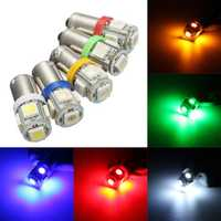 Car 12V 5 SMD LED Ba9s T4W W5W T10 Indicator Light Bulb Lamp 5 Color