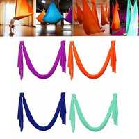 5X2.8M Aerial Polyamide Yoga Swing Hammock Trapeze Anti Gravity Flying Inversion Fitness Therapy