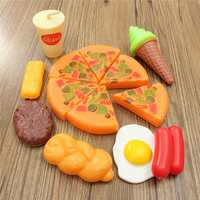 13PCS Plastic Pizza Cola Ice Cream Cutting Play SetChildren Kids Pretend Role Toy Gift