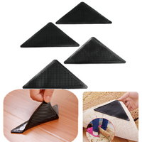 4pcs Anti Slip Coner Rubber Mat Trangle Non Slip Carpet Skid Grippers Rug
