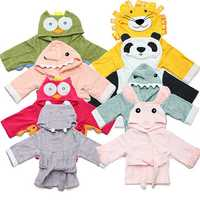 Baby Nighty Pajamas Kids Toddler Animal Cartoon Bathrobe Towel