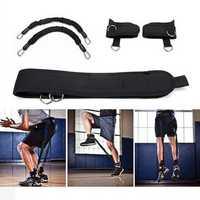 KALOAD 30lb Elastic Pull Rope Waist Belt Bouncing Training Set Sports Resistance Bands for Pilates Gym Yoga Fitness