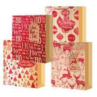 Christmas Santa Claus Elk Bag Paper Party Holiday Xmas Candy Bag Party Gift