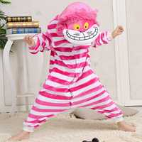 Flannel Thickening kids Cute Cartoon Cheshire Cat Pajamas Siamese Sleepwear
