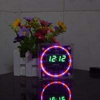 Geekcreit® Upgrade DIY EC1515B DS1302 Light Control Rotation LED Electronic Clock Kit Size 81x81x2mm