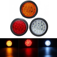 Round Reflector Rear Tail Brake Stop Marker Light Indicator for Truck Trailers