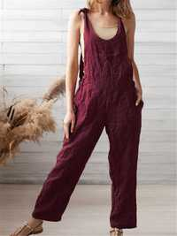 Adjustable Straps Wide Leg Jumpsuit Overalls