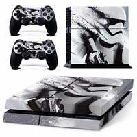 Skin Sticker For PS4 Play Station 4 Console and 2 Controller Protector Skin