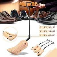 Adjustable Shoes Stretcher Men Women Shoe Boots Tree Shaper Pine Wooden 3 Sizes Shoes Accessories