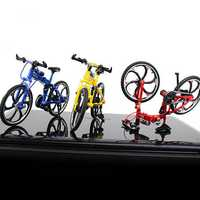 1:10 Mini Bike Model Openable Folding Mountain Bicycle Bend Racing Alloy Model Toys