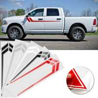 Car Side Door Stripe Stickers Decoration Decals 170x23cm Pair for Dodge Ram 2009-2018