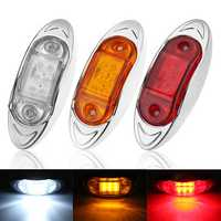LED Chrome Side Marker Indicator Lights Lamps 24V 10cm for Truck Trailer Lorry