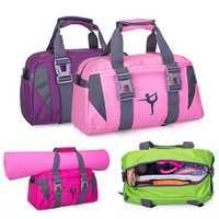 KALOAD 20L Nylon Fitness Yoga Mat Bag Travel Outdoor Sports Exercise Handbag Men Women Handle Bag