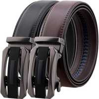 125CM Second Layer Cowhide Leather Business Belt