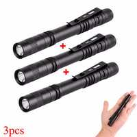 Elfeland XPE 600LM EDC LED Pen Light Flashlight With Clip AAA