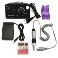 220V 30000RPM Professional Electric Nail Drill File Bits Machine Manicure Kit Black