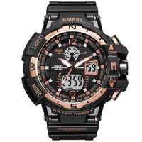 SMAEL 1376 Digital Analog Dual Display Male Wristwatch Outdoor Waterproof LED Watch