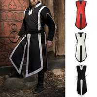 INCERUN Men Medieval Long Uniform Halloween Cosplay Tops