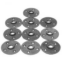 10pcs 3/4 Inch Malleable Iron Floor Flange Steel Iron Pipe Fitting Wall Mount