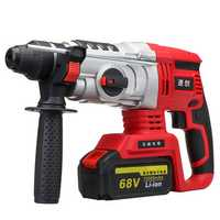 68V/88V Electric Brushless Hammer Cordless Power Impact Drill with Lithium Battery EU