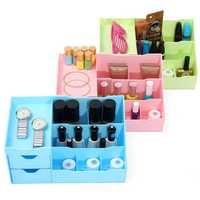 3 Colors Plastic Cosmetic Organizer Pull Out Storage Compartment Makeup Tool Nail Polish Case