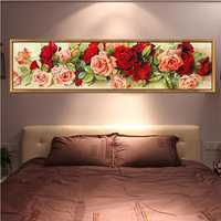 DIY 5D Diamond Mosaic Magic Cube Rose Diamond Embroidery Painting Rhinestone Cross Stitch Rose Flower DIY Diamond Embroidery Floral Diamond Mosaic Wall Decor Home Decoration