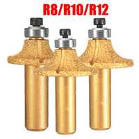 Diamond Stone Marble Grinding Edge Router Bit 1/2 Inch Shank R8/R10/R12 Woodworking Cutter Tool