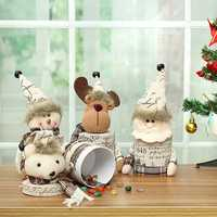 Christmas Party Home Decoration Cute Linen Candy Box Toys For Kids Children Gift