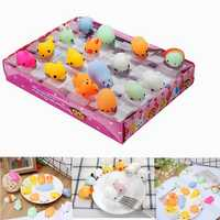16PCS Mochi Animal Squeeze Squishy Cute Healing Toy Kawaii Collection Stress Reliever Gift Decor