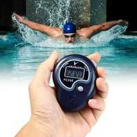 Hand-held 5 Digit Single Row 2 Memories LCD Digital Stopwatch with Whistle