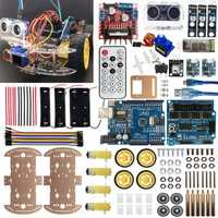 4WD Smart Robot Car Kit UNO-bluetooth IR Obstacle Avoid Line Follow L298N For Arduino